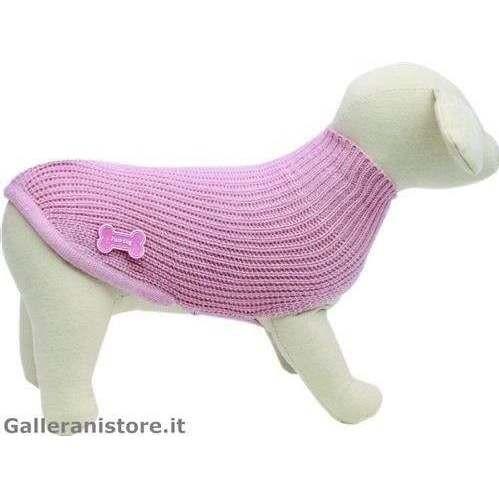Maglione dolcevita LUX rosa cani - Fuss Dog