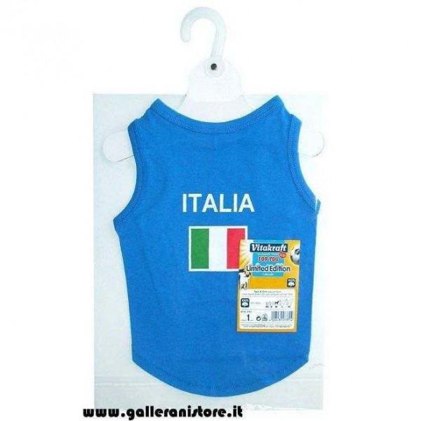 Canotta ITALIA per cani - Linea Calcio