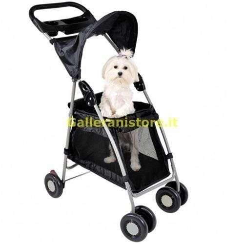 Passeggino per cani WALK'N ROLL Nero fino a 10 kg - Camon