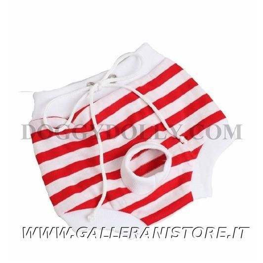 Mutandina per cani Doggy Dolly Red Stripe - Taglia XL