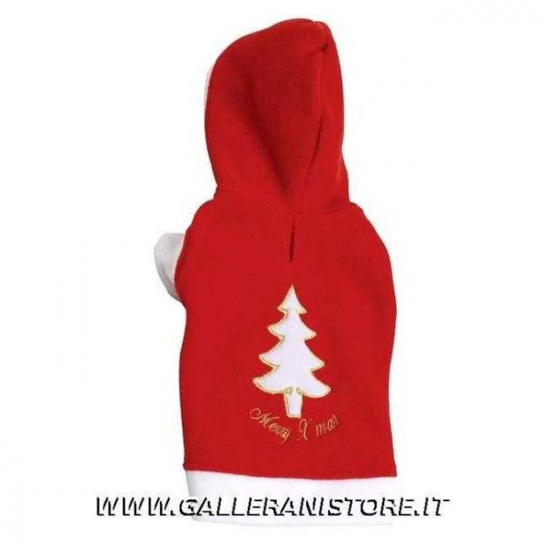 Felpa Natalizia Red Tree Fleece per cani Doggy Dolly - Taglia XS