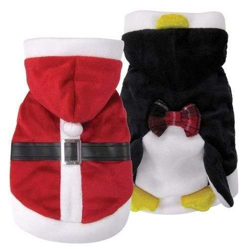 Vestito da Babbo Natale reversibile in Pinguino per cani - FouFouDog