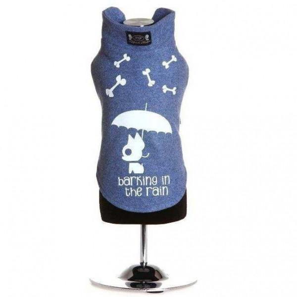 Felpa Alceo in cotone azzurro per cani - Trilly tutti Brilli