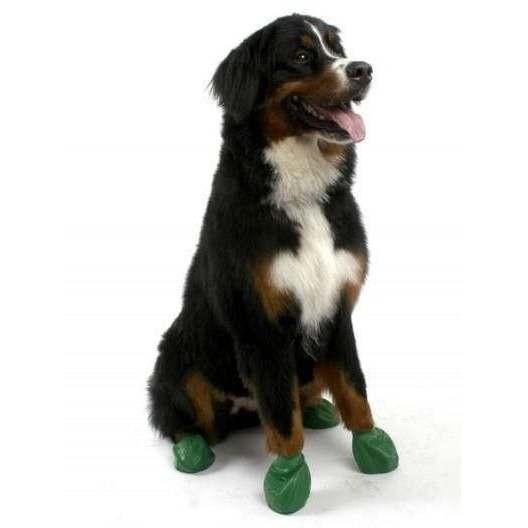 Scarpine PAWZ in gomma naturale per cani - Misura XL VERDE