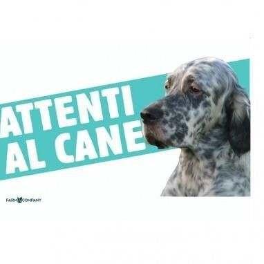 Cartello Attenti al cane Setter Inglese - Farm Company