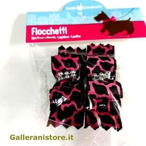Fiocchetti maculati Nero Fucsia per cani - Farm Company