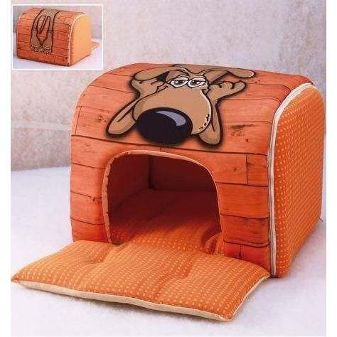 Tunnel casetta design fumetto per cani - Nasonero