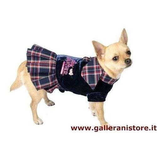 Vestito velluto e cravattina per cani - La Pantera Rosa