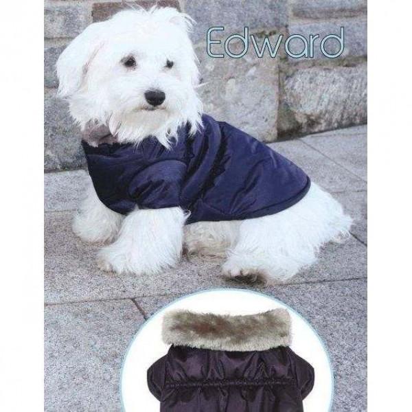Giubbotto imbottito EDWARD Blu per cani - CaniAmici