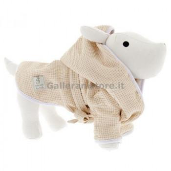 """Accappatoio per cani """"Bath Robe Beige"""" - Linea Ferribiella"""