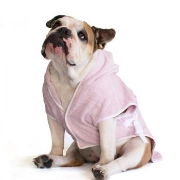 "Accappatoio per Bulldog Inglese ""Marylin"" Rosa"