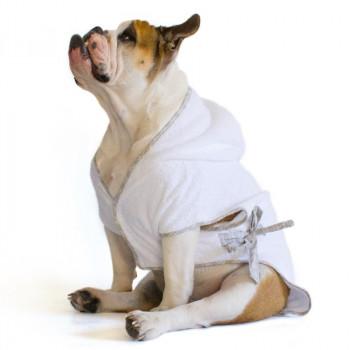 "Accappatoio per Bulldog Inglese ""Marylin"" Bianco"