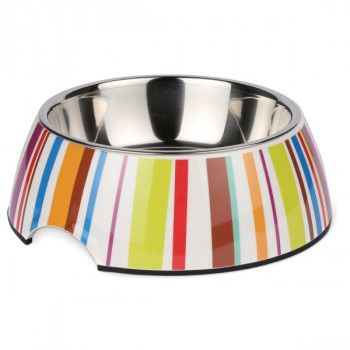 Ciotola per cani Bowl Stripes in acciao e plastica