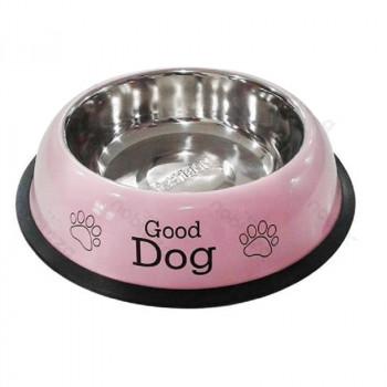 Ciotola per cani London in acciaio rosa - Nobleza