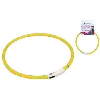 Collare Visible Led USB Giallo per cani - Croci