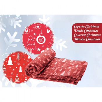 Coperta plaid per cani natalizia Christmas White Tree