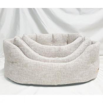 Cuccia per cani ovale Linea Eco, colore beige - Nasonero
