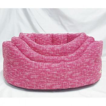 Cuccia per cani ovale Linea Eco, colore rosa - Nasonero