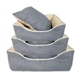 Cuccia per cani sfoderabile, colore grigio - Nobleza