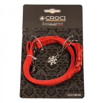 Guinzaglio natalizio per cani Christmas colore Rosso