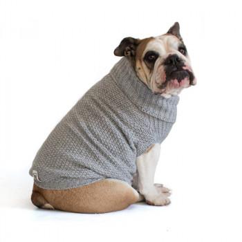 """Maglione per Bulldog Inglese """"Oliver"""" Grigio"""
