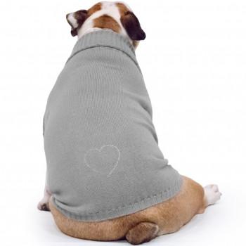 Maglione per Bulldog Inglese Sole Grigio con Swarovski