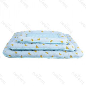 Materassino per cani azzurro in tessuto fresco estivo - Arredo Casa
