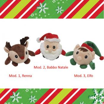 Palla di peluche natalizia per cani con sonoro - Linea Croci