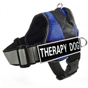 """Pettorina per cani """"Therapy dog"""" Blu - Nobleza"""