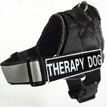 Pettorina per cani Therapy Dog Nera - Nobleza