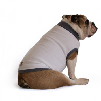 """Pile per cani Bulldog Inglese """"Melina"""" Bianco e Grigio"""
