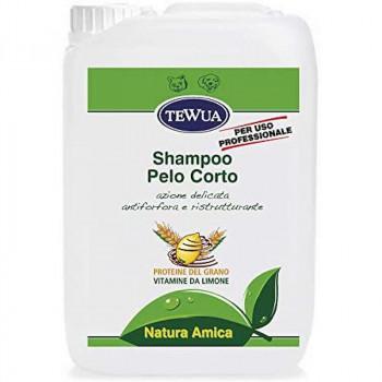 Tanica 10 lt. Shampoo professionale per cani a pelo corto - Tewua