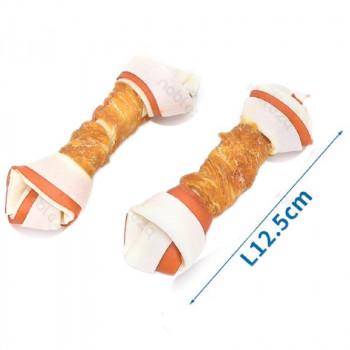 Snack per cani ossi bicolore grandi - Nobleza