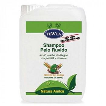 Shampoo per manti PELO RUVIDO cani e gatti Tanica Lt.10 Tewua