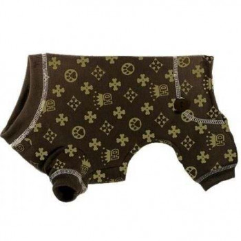 Pigiama HD Crown Longjohns Brown per cani - Hip Doggie