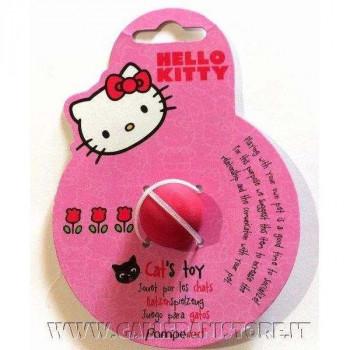 Gioco per gatti Hello Kitty pallina in lattice rosa cm 2