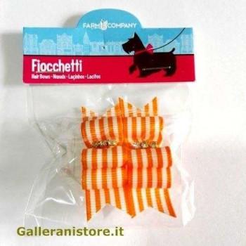 Fiocchetti arancio righe per cani - Farm Company