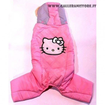 Tuta imbottita per cani HELLO KITTY Rosa S - FIX FOR PETS