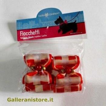 Fiocchetti con perline rosso per cani - Farm Company