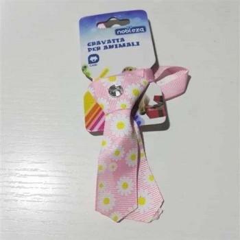 Mini Cravattina Rosa fantasia per cani - Nobleza