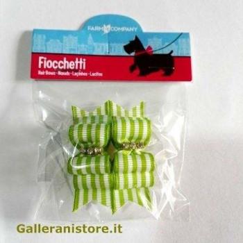 Fiocchetti verde righe per cani - Farm Company