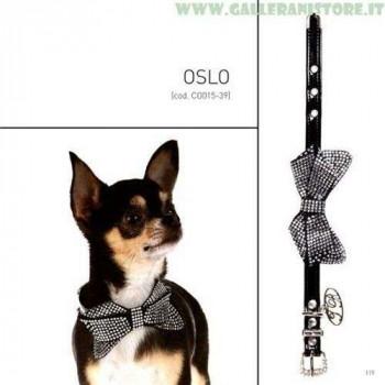 Collare ecopelle con cristalli OSLO - Trilly tutti Brilli