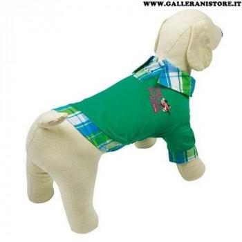 Polo Pink Panther Verde/Scozzese per cani - La Pantera Rosa