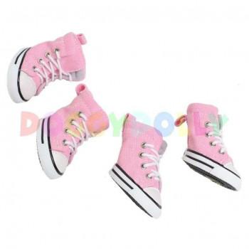 Scarpe sportive per cani - Pink Shoes mis.4 L