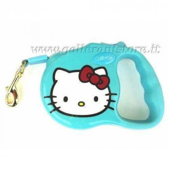 Guinzaglio Estensibile Hello Kitty Azzurro - Love Pets by Fix