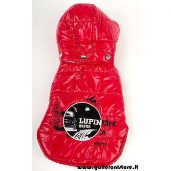 Piumino imbottito Lupin Wanted Rosso per cani - LUPIN III