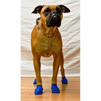Scarpine PAWZ in gomma naturale per cani - Misura MEDIUM BLU