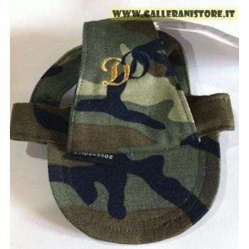 Cappellino S Mimetico per cani con visiera DD Green Camouflage