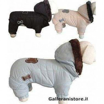 Tutina cappottino Super Cold 4 zampe per cani - Fuss Dog