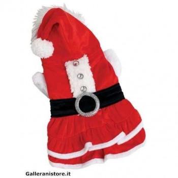 Vestitino Santa girl Babbo Natale per cani